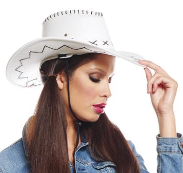 Chapeau de cowboy Texas blanc pas cher