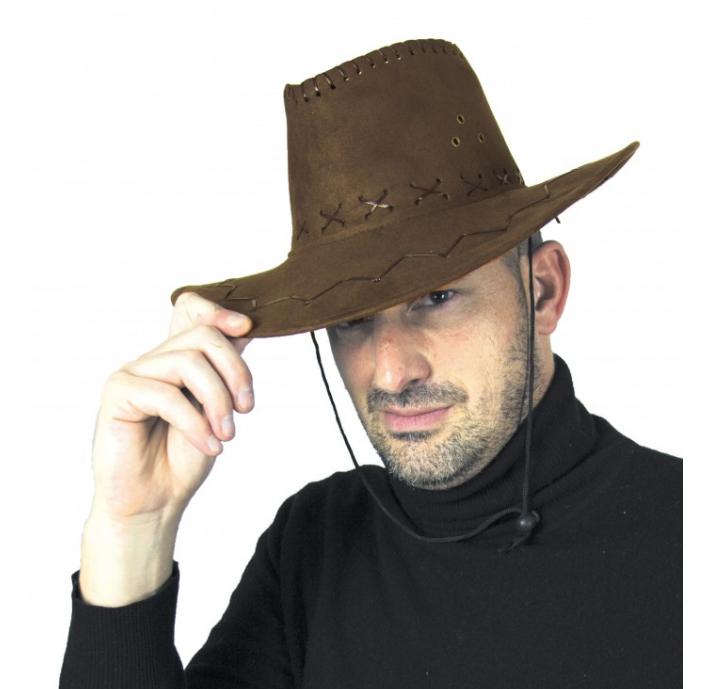 Chapeau Cowboy Texas Marron pas cher