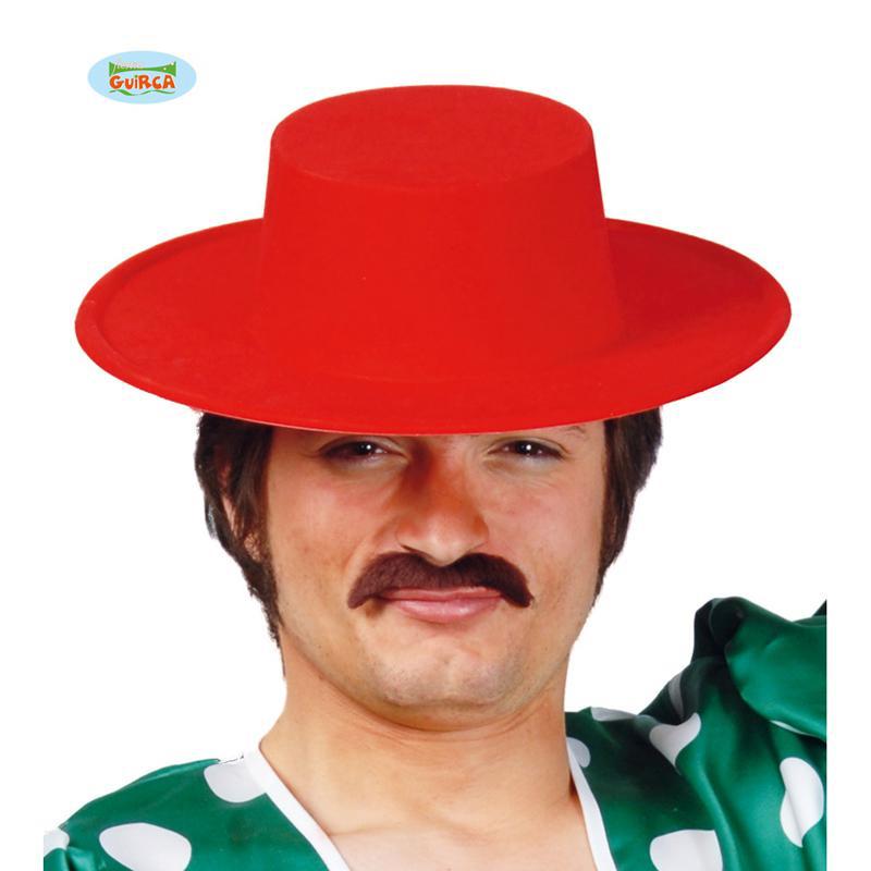 Chapeau Espagnol Floque rouge pas cher