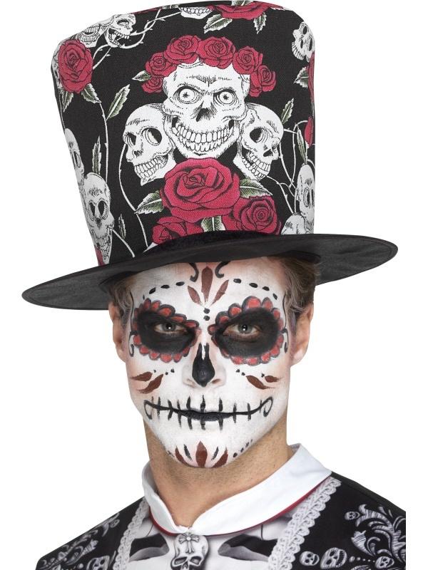 Chapeau Haut De Forme Dia De Los Muertos pas cher