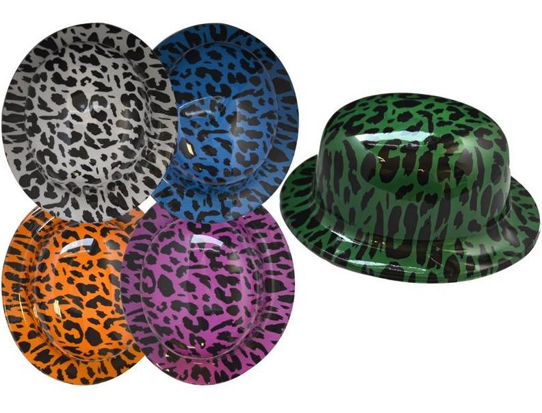 Chapeau melon léopard pas cher