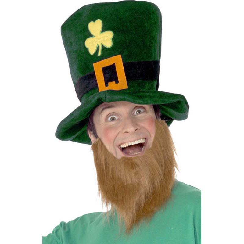 Chapeau Saint Patrick avec Barbe pas cher