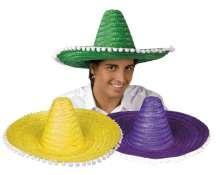 Chapeau Sombrero Uni Adulte pas cher