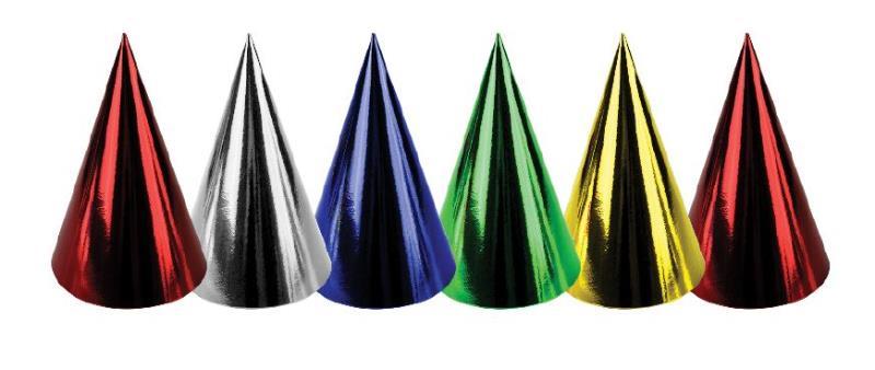 Chapeaux pointus métallisés pas cher