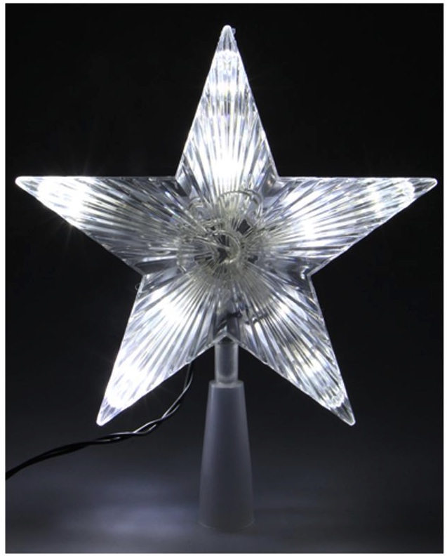 Cimier étoile 10 leds blanche pas cher