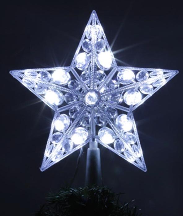 Cimier étoile 20 leds blanche pas cher