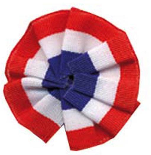 Cocarde ronde en tissu tricolore pas cher