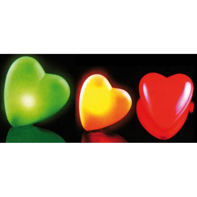 Coeur lumineux sur broche couleurs changeantes pas cher