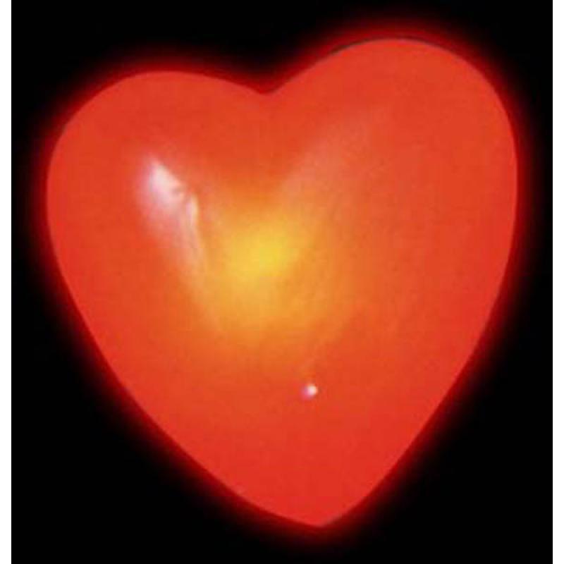 Coeur sur broche lumineux et clignotant pas cher