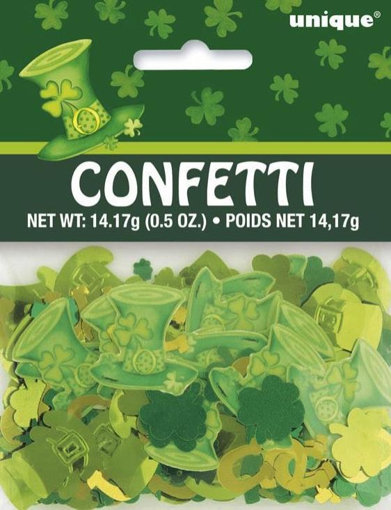 Confettis pour une fête irlandaise