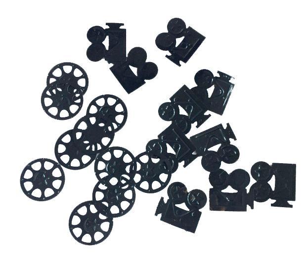 Confettis de table bobines de cinema