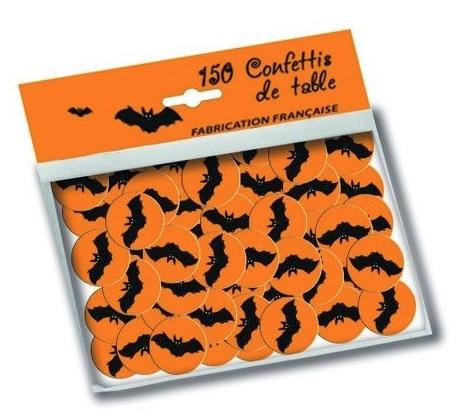 Sachet de confettis de table chauve souris