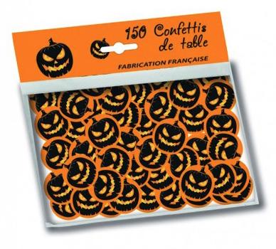 Sachet de confettis de table citrouille