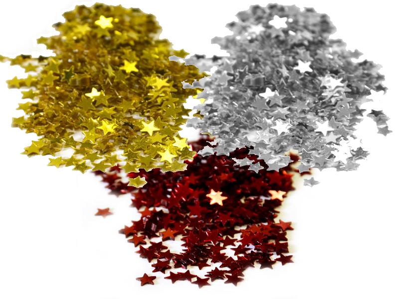 Confettis en forme étoiles pour décoration de table