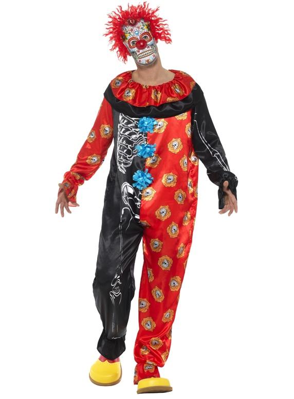 Costume Clown Dia De Los Muertos pas cher