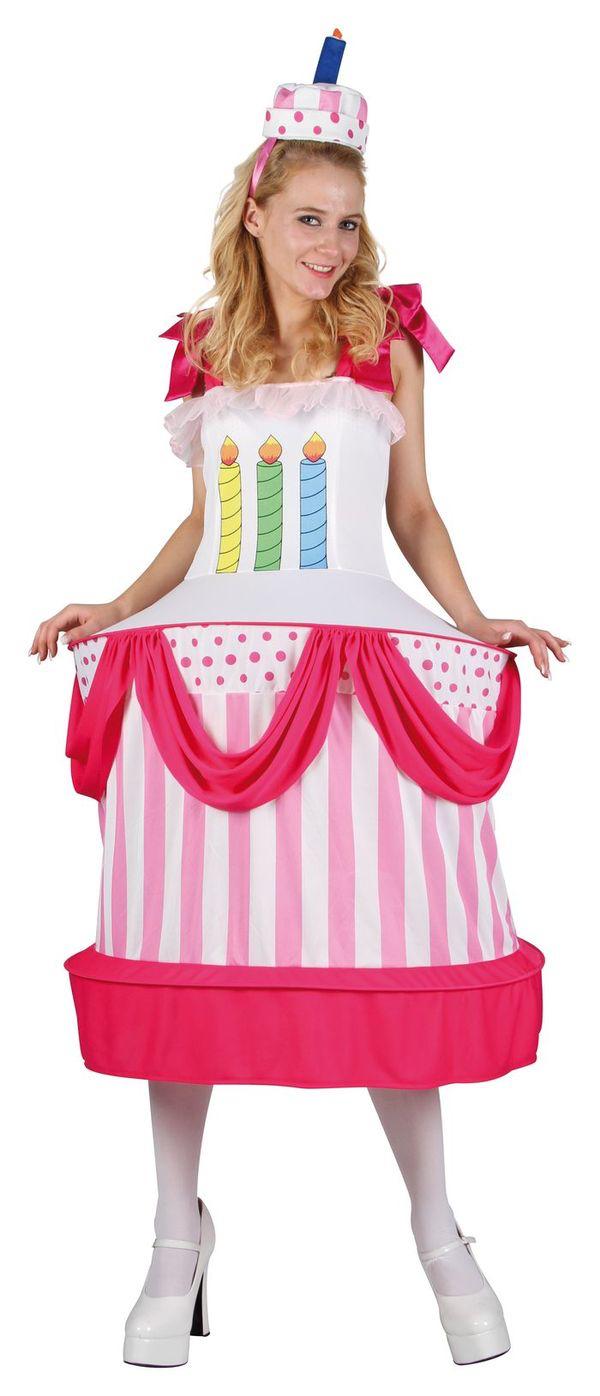 Costume gâteau d'anniversaire femme pas cher