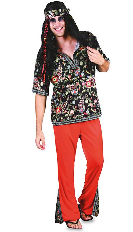 Costume Hippie Rouge pas cher
