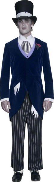 Costume marié gothique noire pas cher