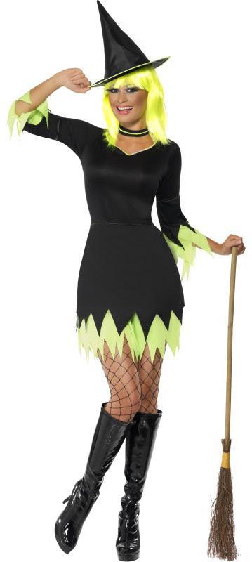 Déguisement sorcière noir et vert pas cher
