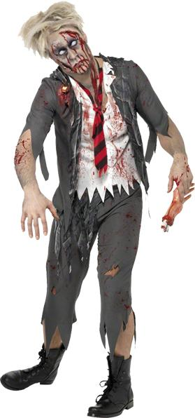 Déguisement Zombie écolier adulte pas cher