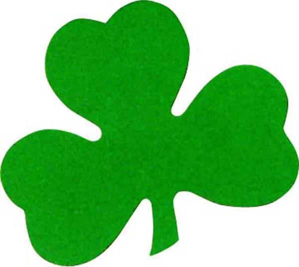 Trèfle St Patrick en carton : décoration Saint Patrick