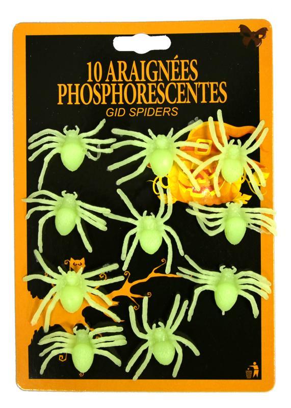 Décoration araignées phosphorescentes pas cher