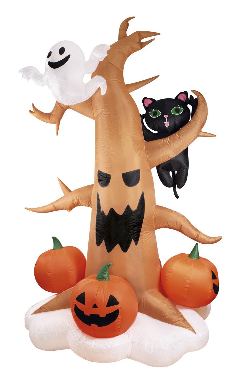 Décoration arbre gonflable et lumineux pour Halloween