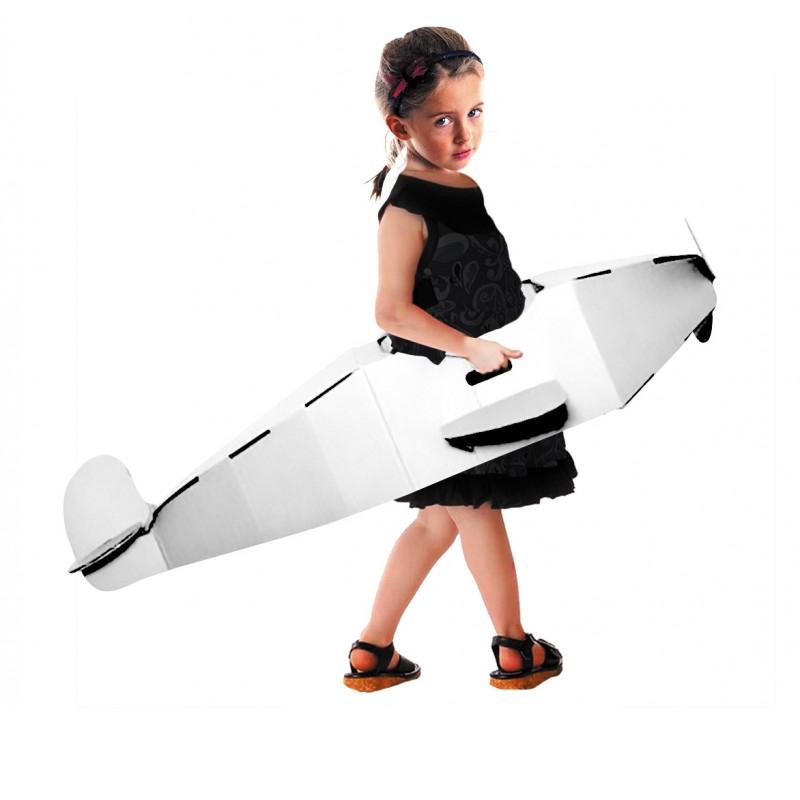 Décoration avion en carton à décorer pour enfant