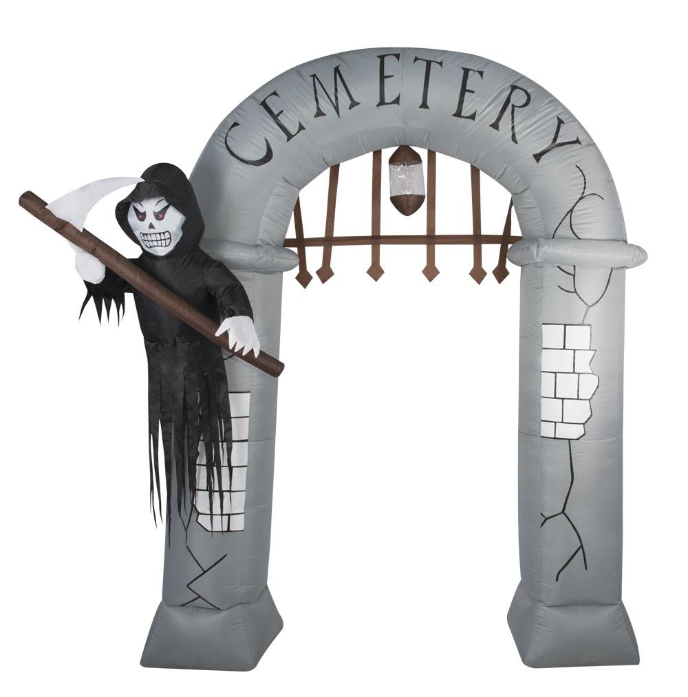 décoration cimetière gonflable et lumineuse pour Halloween