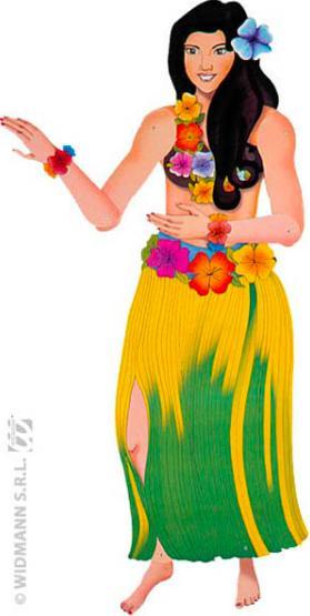 Danseuse Hawaïenne en carton