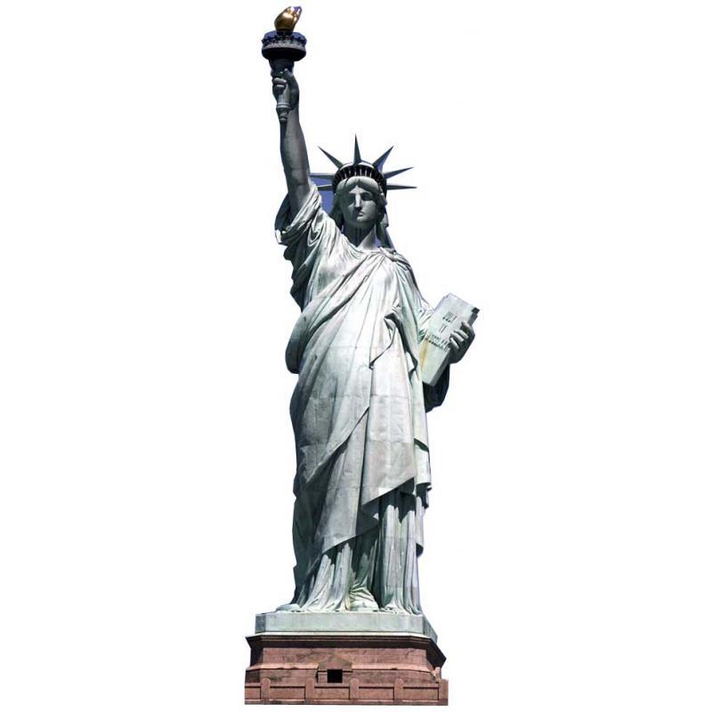 Décoration géante en carton statue de la liberté pas cher