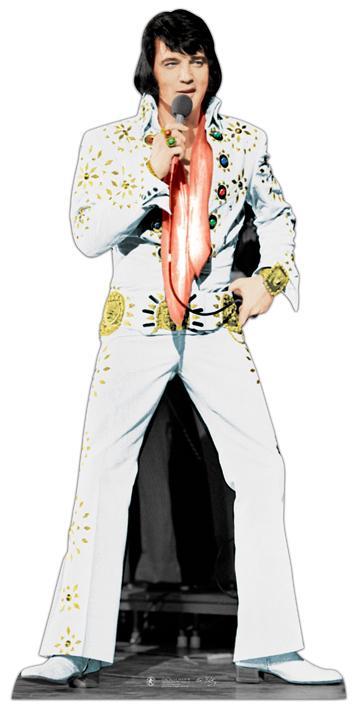 Décoration géante Elvis en carton