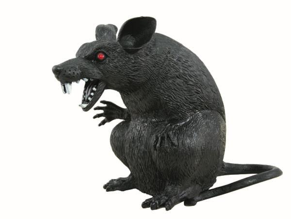 Décoration rat en plastique pour Halloween