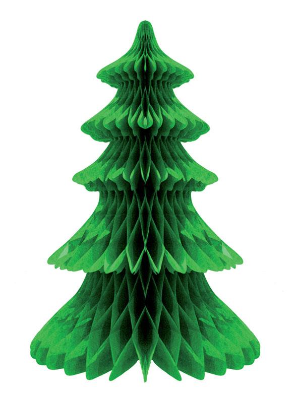 décoration sapin de noël vert en papier pas cher