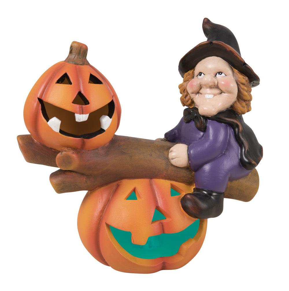 Décoration sorcière lumineuse pour Halloween