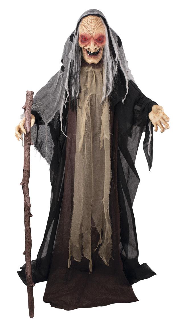 Décoration sorcière animé, sonore et lumineuse Halloween