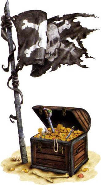 Décoration Trésor de Pirate pas cher