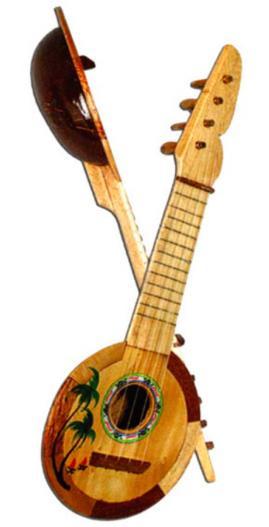 Décoration Ukulélé en bois pas cher