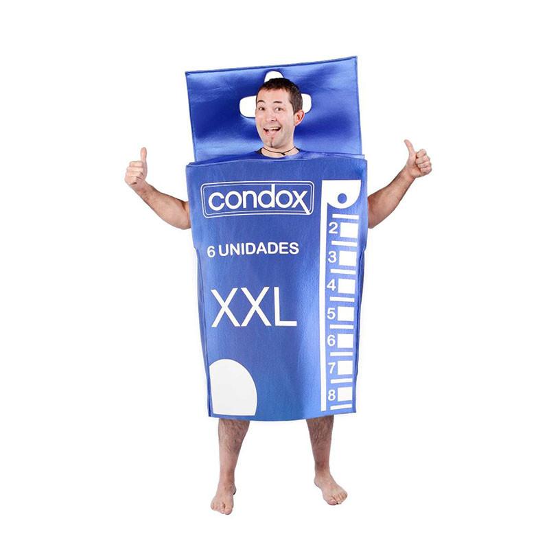 Déguisement boîte de préservatif pas cher