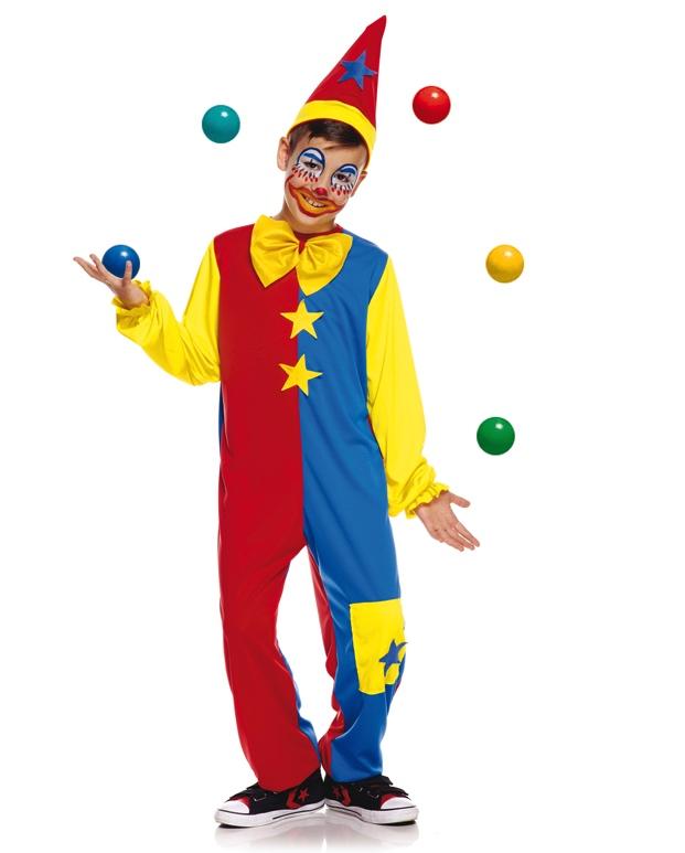 Déguisement clown enfant bicolore pas cher