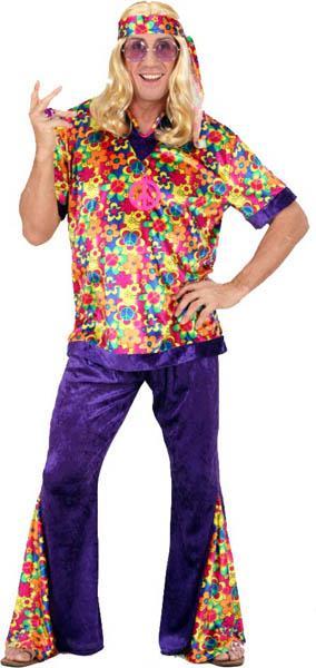 Déguisement Hippie Homme Velours pas cher