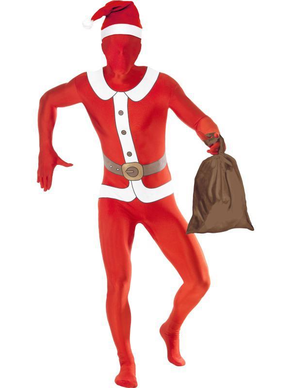 Déguisement Seconde Peau Père Noël avec sac pas cher