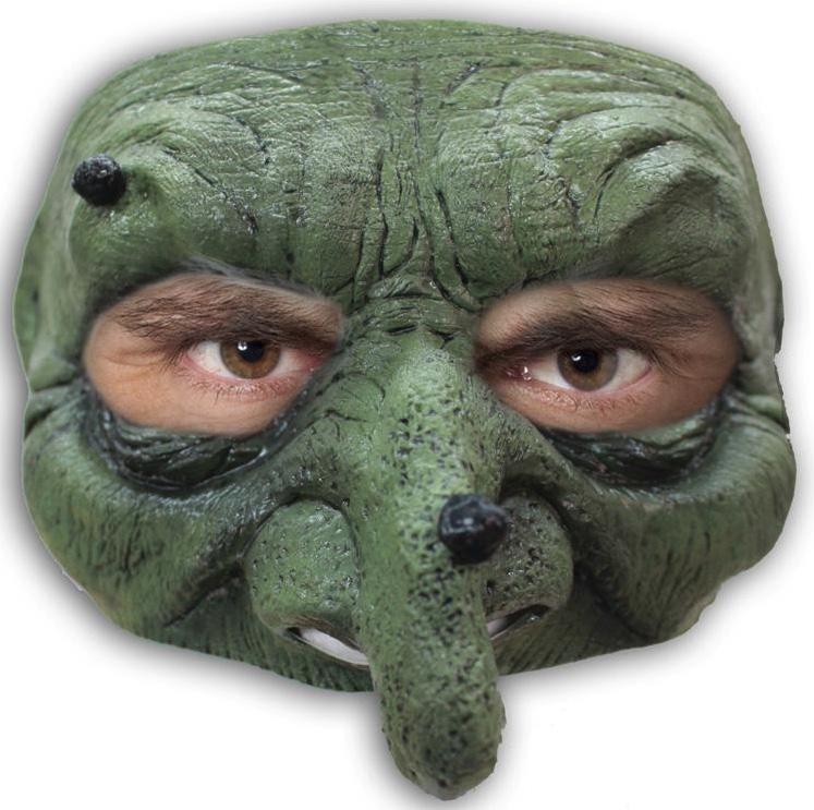 Demi Masque de Sorcière en latex pas cher