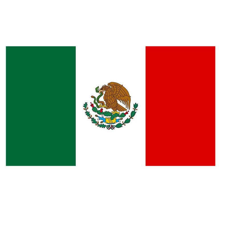 Drapeau du Mexique pas cher en polyester