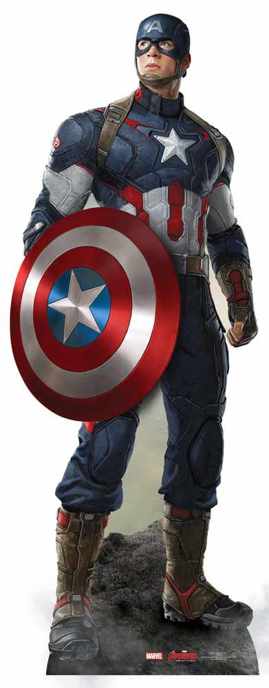 Figurine Captain America géante pas cher