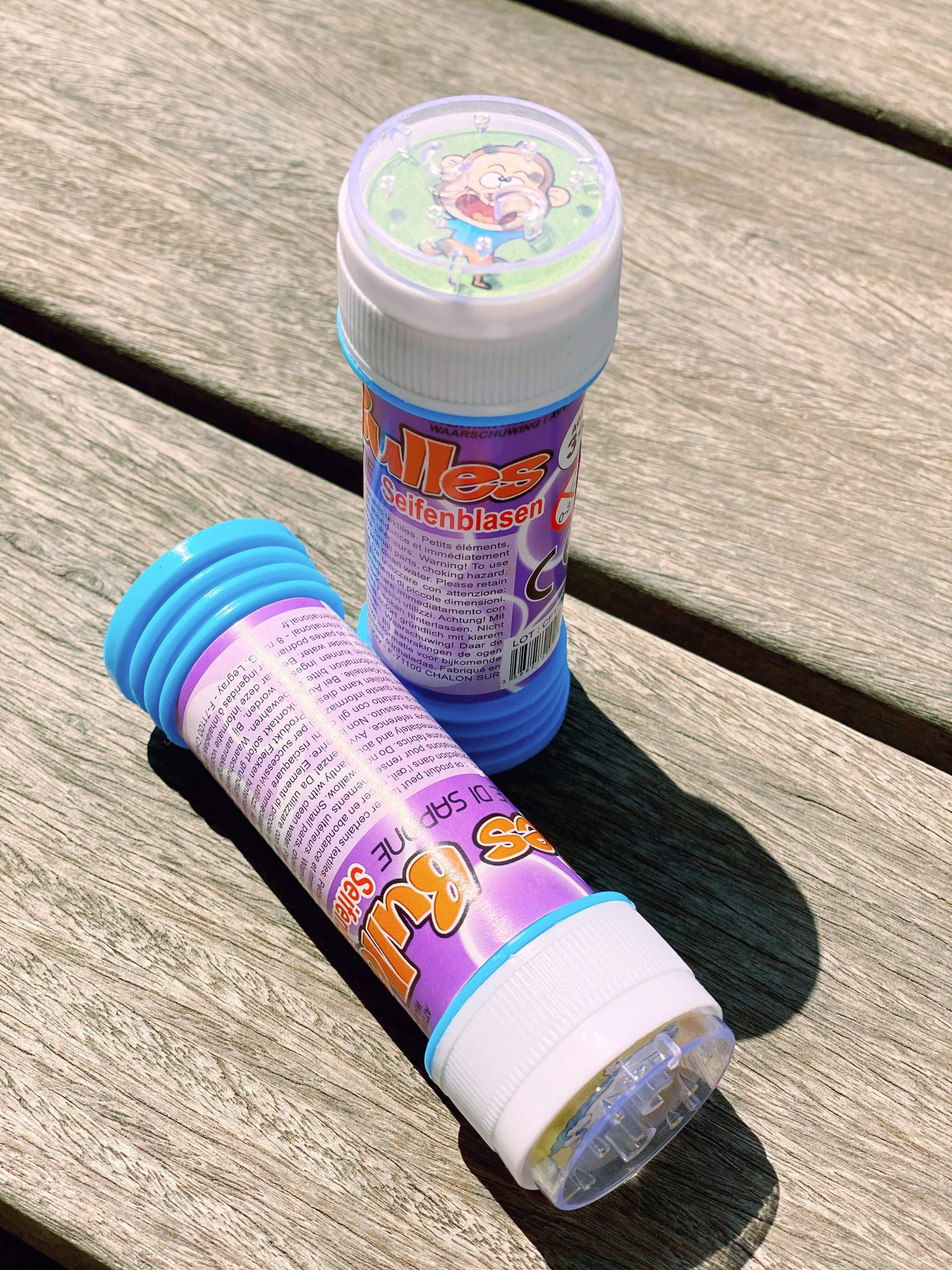 Flacon bulles de savon avec jeu de patience pas cher