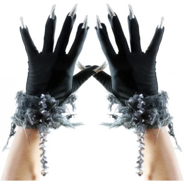 Gants Halloween avec Ongles pas cher