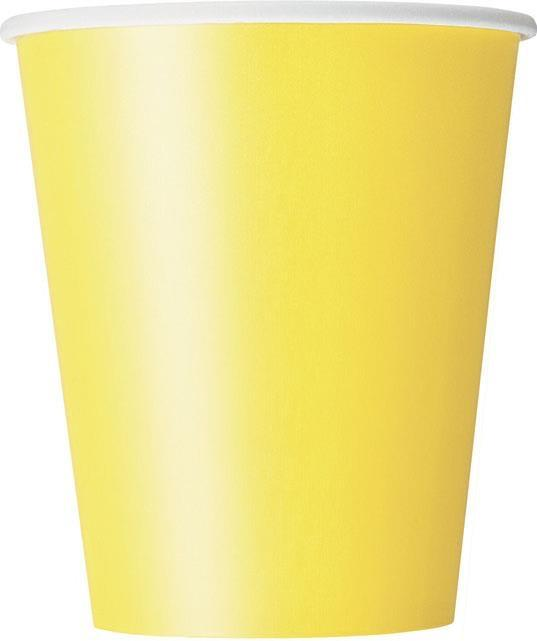 Gobelets jaune en Carton pas cher