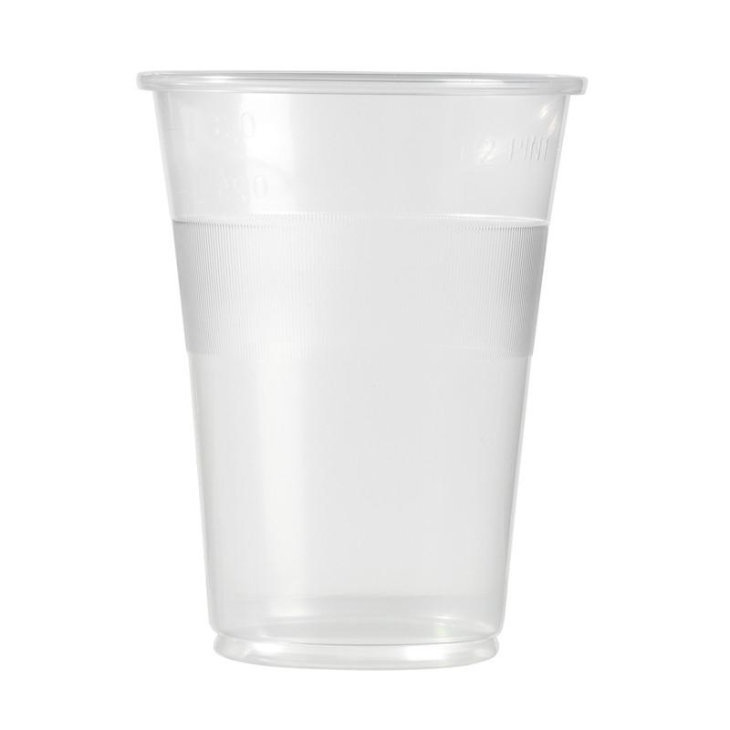 Gobelets transparents en plastique de 35 cl