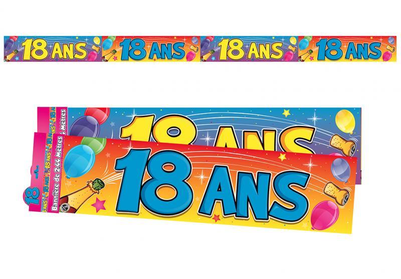 Guirlande bannière anniversaire 18 ans